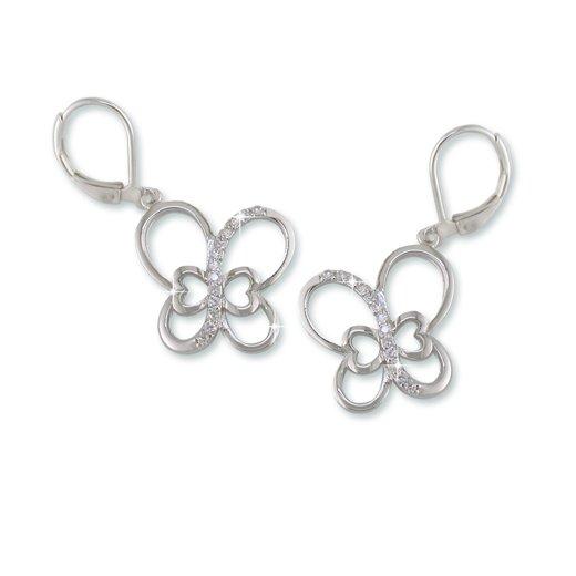 Butterfly Rhodium Earrings (EE6725S)