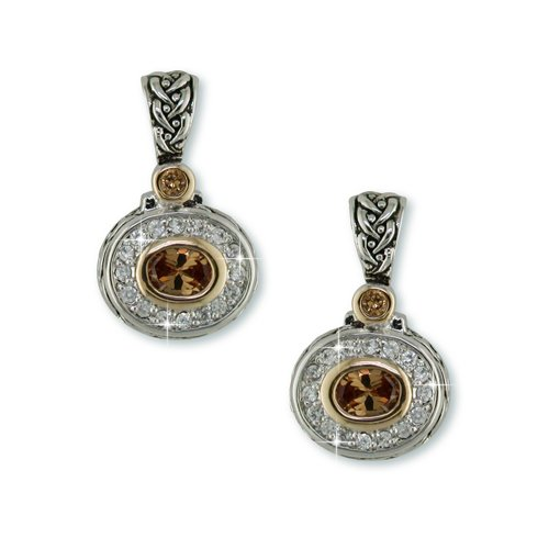 Champagne Antique Rhodium Earrings (EP6856CH)