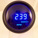 "2"" Digital Tachometer Gauge Black with Cobalt Blue LED"