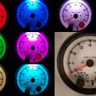"3-3/4"" Tachometer Black with White Face and Shift Light 7 Color New"