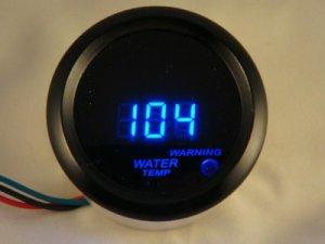 "2"" DIGITAL WATER TEMP GAUGE BLACK WITH BLUE LED"