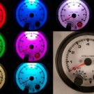 "3-3/4"" TACHOMETER BLACK WITH SHIFT LIGHT 7 COLOR NEW"