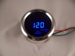 "2"" DIGITAL OIL PRESSURE PSI GAUGE CHROME WITH BLUE LED"