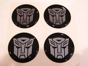 Transformers Autobots Style wheel center cap hub cap center decal 43mm set of 4