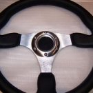 Ford Black Leather Steering Wheel Mustang 1970-1980 Bronco F150