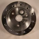 Polished Billet 1-1/4in. Grant 3 hole to Nardi 6 hole Steering Wheel hub adaptor