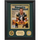 Brett Favre Autographed NFL ?2007 Sportsman of the Year? SI I 24kt Gold Coin Photo Mint