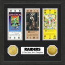 Oakland Raiders SB Championship Ticket Collection