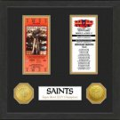 New Orleans Saints SB Championship Ticket Collection