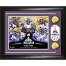 AFC Champs Super Bowl XLVII 24KT Gold Coin Team Force Photo Mint
