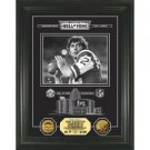 Joe Namath HOF Archival Etched Glass 24kt Gold Coin Photo Mint