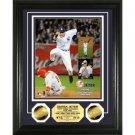 """Derek Jeter """"5x World Series Champ"""" 24 KT Gold Coin Photo Mint"""