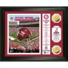 "Alabama 2013 ""BCS National Championship Game"" Gold Coin Banner Photomint"