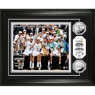 "San Antonio Spurs 2014 NBA Finals Champions ""Celebration"" Silver Coin Photo Mint"