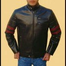 1970's cafe racer style Retro PU leather jacket