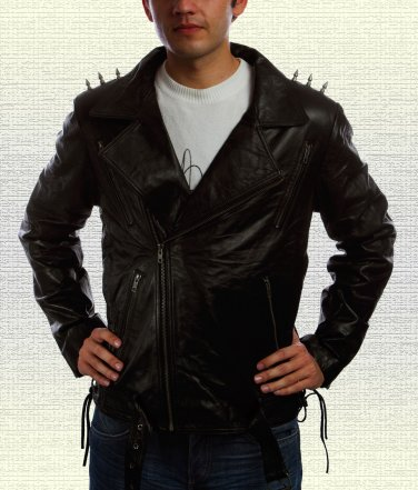"Ghost Rider ""Nicolas Cage"" Leather Jacket"