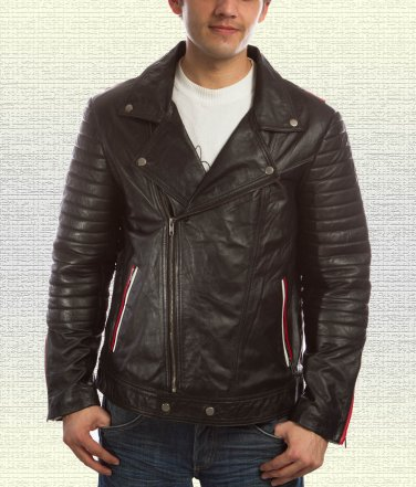 Blue Valentine Motorcycle Leather Jacket