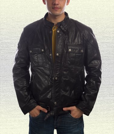Wanted Wesley Gibson Black Leather Jacket