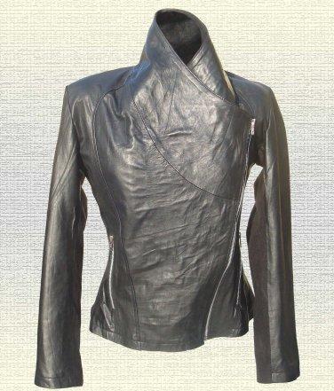 Ladies Black Fashion Leather Jacket