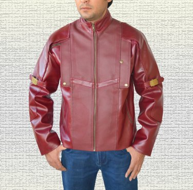 Chris Pratt Guardians of the Galaxy Men's Red Faux Leather Jacket