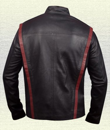 N7 MASS EFFECT 3 LEATHER JACKET 100% Handmade Real Leather Jacke Black Red Sizes