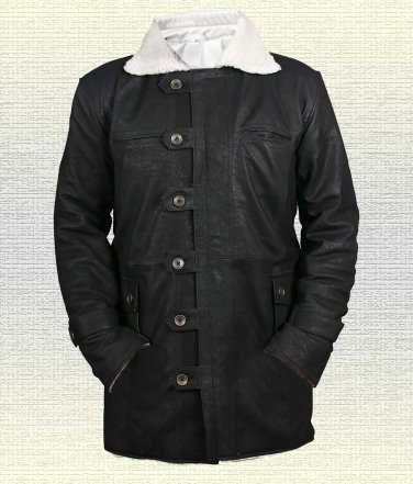 Bane Tom Hardy Batman Dark Knight Rises Handmade Cow Leather Jacket Brown Sizes