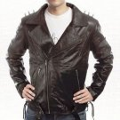 Nicolas Cage Ghost Rider Biker Black Leather Jacket size Small-4XL Men
