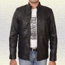 Men Fashion Handmade  Sheep Leather Jacket Small-5XL Black & Brown Color