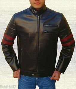 Retro Style 1940 Black Leather Jacket size Small-4XL Men