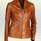 Ladies Handmade Original Sheep Leather Fashion Jacket Black Brown New all Sizes