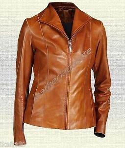 Ladies Handmade Original Sheep Leather Fashion Jacket Black Brown New all Sizes