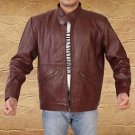 Men Fashion Handmade Cow Leather Jacket Small-5XL Black & Brown Color