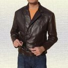 Iron Man Tony Stark Brown Black Leather Jacket size Small-4XL Men