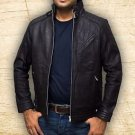 Men Bourne Legacy Jeremy Renner Distressed Handmade Black Sheep Leather Jacket