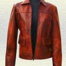 Hunger Games Katniss Everdeen Handmade  Leather Jacket Brown Black all New Sizes