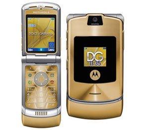 Motorola V3i - Dolce & Gabbana 'Gold' - FREE SHIPPING!