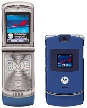 Motorola V3 Razr - Blue - FREE SHIPPING!