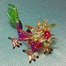 Dragon Pink Miniature Funny Animal Hand Blown Painted Glass Statue Figure Small Craft Collectible