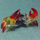 Crab Purple Miniature Sea Animal Hand Blown Painted Glass Statue Figure Small Craft Collectible