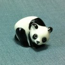 Panda Bear Miniature Funny Animal Hand Made Painted Ceramic Statue Figure Small Craft Collectible