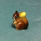 Squirrel Miniature Funny Animal Hand Made Painted Ceramic Statue Figure Small Craft Collectible
