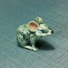 Mouse Rat Miniature Funny Animal Hand Made Painted Ceramic Statue Figure Small Craft Collectible