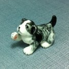 Puppy Dog Miniature Funny Animal Hand Made Painted Ceramic Statue Figure Small Craft Collectible