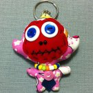Funky Monkey Cute Animal Pink Vintage Fabric Doll Funny Keyring Keychain Key Ring Key Chain Bag Car
