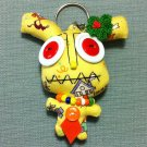 Funky Monster Cute Yellow Vintage Fabric Doll Funny Keyring Keychain Key Ring Key Chain Bag Car