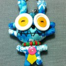 Funky Alien Monster Cute Blue Vintage Fabric Doll Funny Keyring Keychain Key Ring Key Chain Bag Car