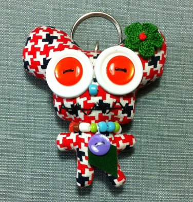Funky Alien Monster Cute Stars Vintage Fabric Doll Funny Keyring Keychain Key Ring Key Chain Bag Car