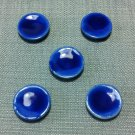 5 Plates Tiny Dishes Dark Blue Ceramic Miniature Dollhouse Decoration Jewelry Hand Painted Supply