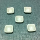 5 Bowls Tiny Dishes Square White Plates Ceramic Miniature Dollhouse Decoration Jewelry Hand Painted