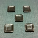 5 Plates Tiny Dish Squared Brown Ceramic Miniature Dollhouse Decoration Jewelry Hand Painted Supply